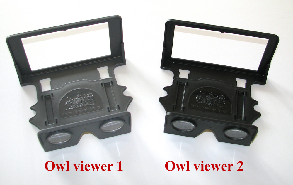 Owl 1 and Owl 2 side by side